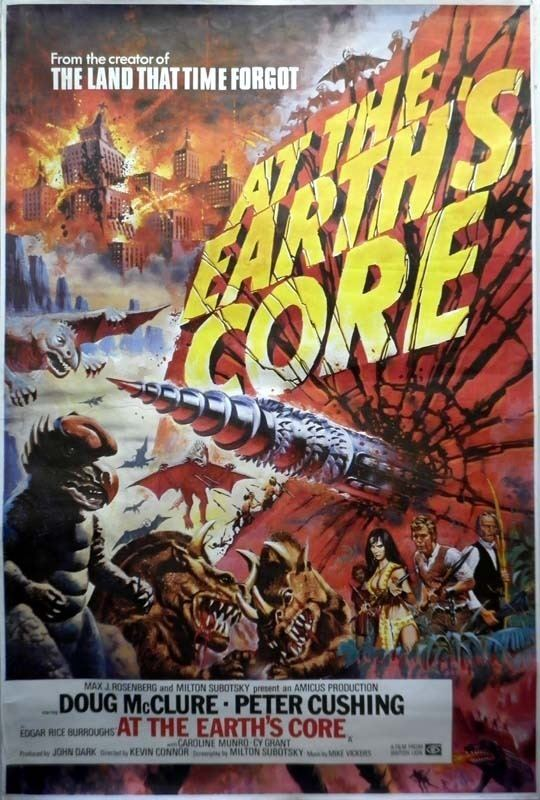 At the Earth's Core (film) Tom Chantrell Posters At The Earths Core Chantrell Artwork 1976 1976