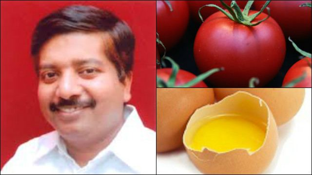 Atanu Sabyasachi Nayak Odisha Health Minister Atanu Sabyasachi Nayak has eggs tomatoes