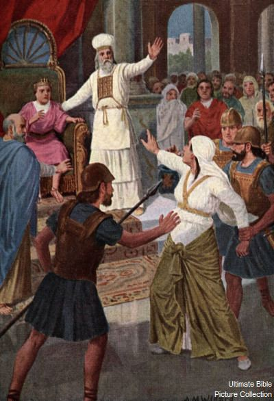 Athaliah 2 Kings 11 Bible Pictures Athaliah disrupts Joash39s