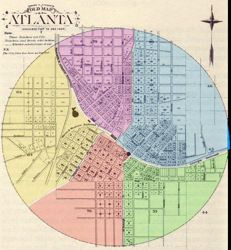 Atlanta annexations and wards