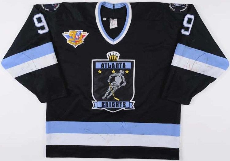 Atlanta Knights 1994 Brent Gretzky Atlanta Knights Game Worn Jersey quot50year
