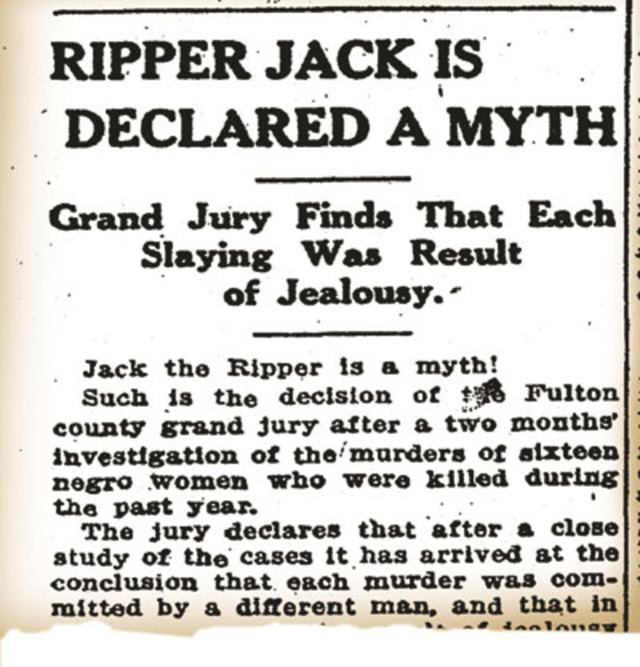 Atlanta Ripper Jack the Ripper