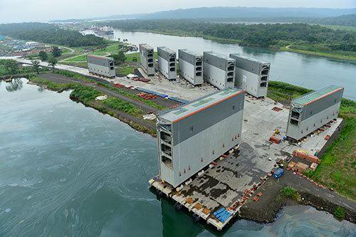 Atlantic Bridge, Panama Panama Canal Expansion Piling Canada