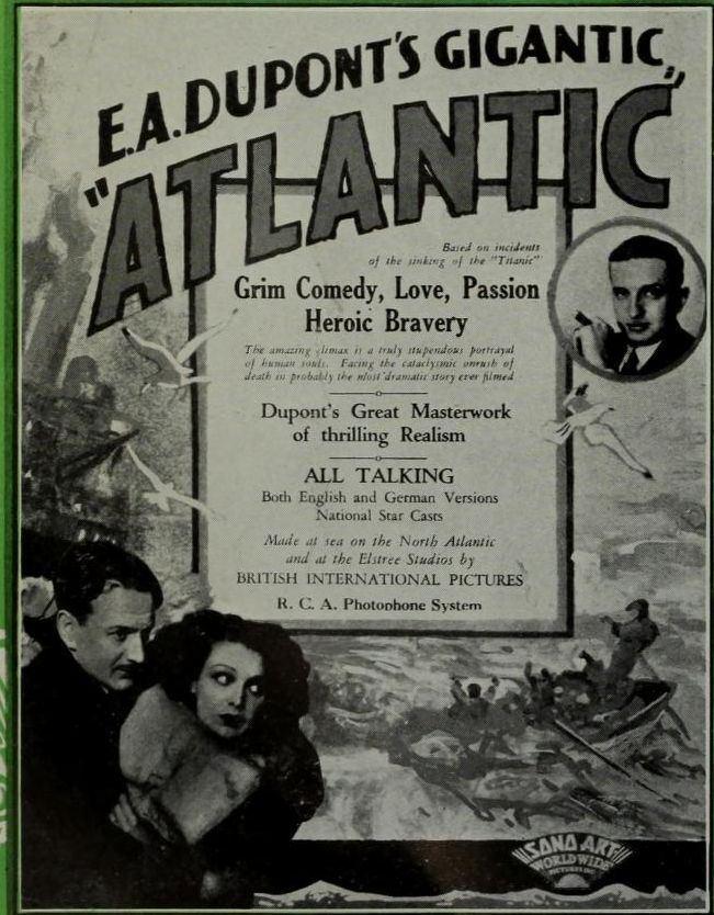 Atlantic (film) Atlantic 1929