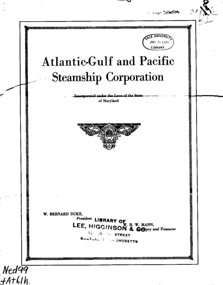 Atlantic, Gulf and Pacific Steamship Corporation