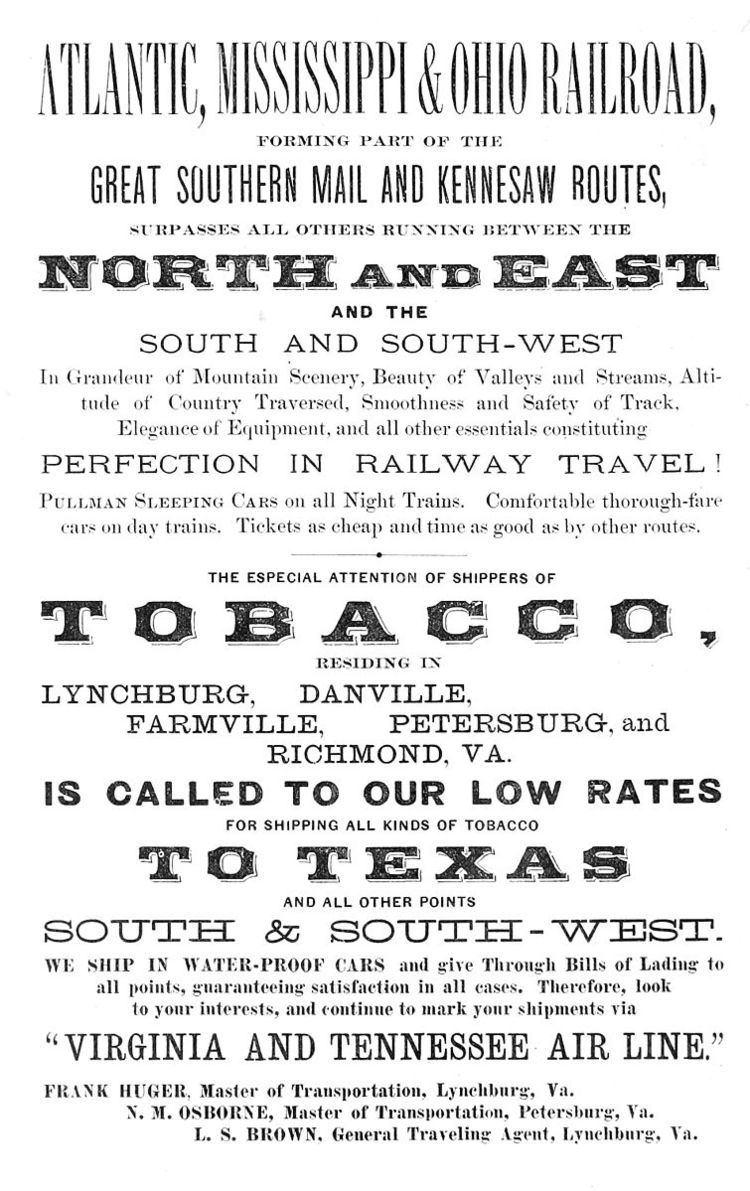 Atlantic, Mississippi and Ohio Railroad