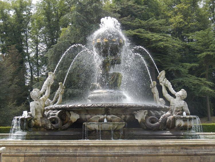 Atlas Fountain Castle Howard and Scampston Walled Garden harriscope39s Blog