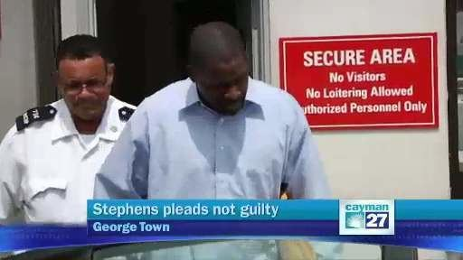 Ato Stephens Ato Stephens pleads not guilty Cayman27
