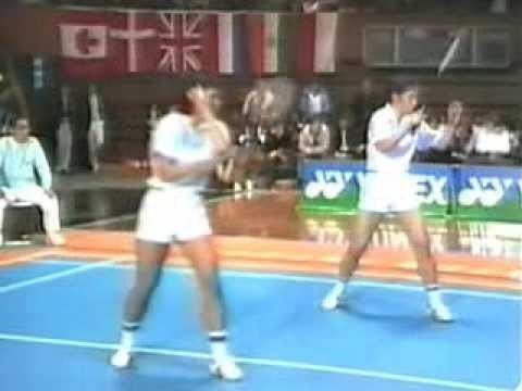 Atsuko Tokuda 1981 Japan Open Badminton Atsuko Tokuda and Yoshiko Yonekura vs