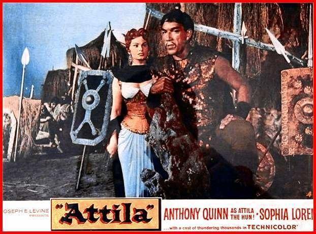 Attila (1954 film) Anthony Quinn met Sophia Loren in Attila 1954 Anthony Quinn