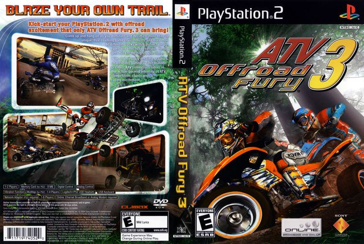 ATV Offroad Fury 3 ATV Offroad Fury 3 Cover Download Sony Playstation 2 Covers The