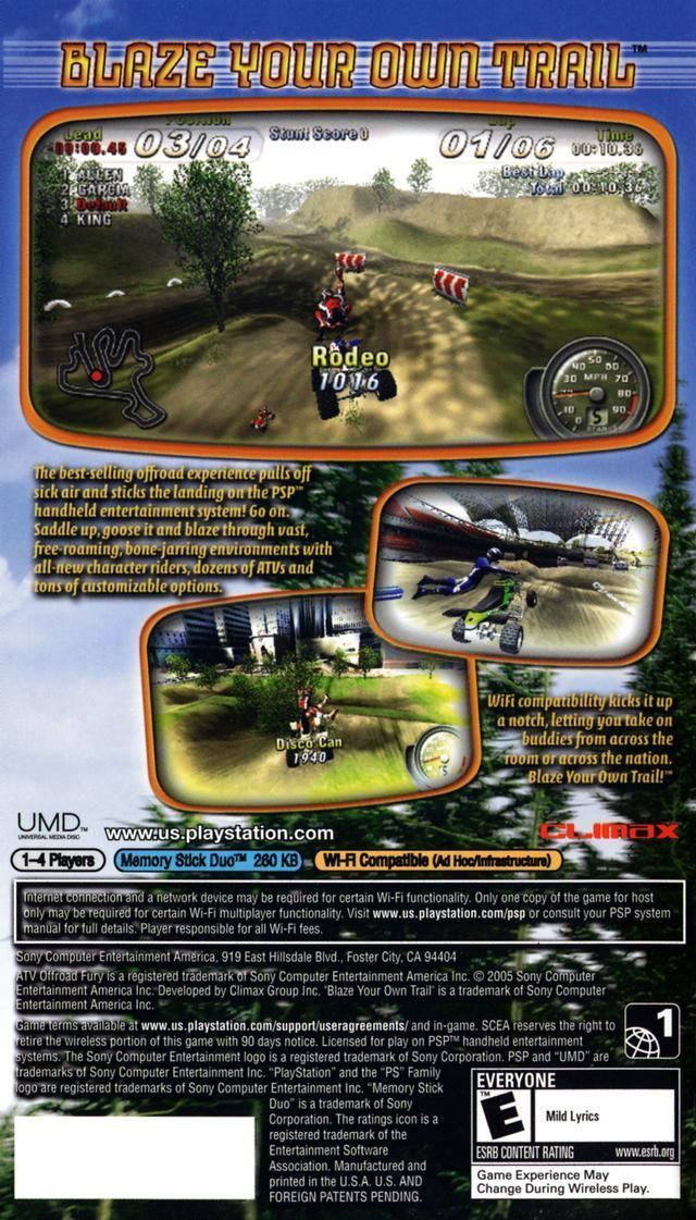 ATV Offroad Fury: Blazin' Trails ATV Offroad Fury Blazin39 Trails Box Shot for PSP GameFAQs