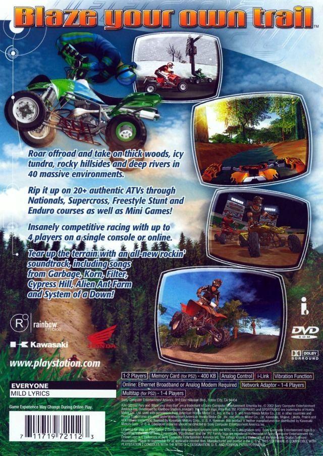 ATV Offroad Fury (series) ATV Offroad Fury 2 Box Shot for PlayStation 2 GameFAQs
