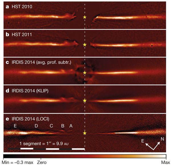 AU Microscopii Fastmoving features in the debris disk around AU Microscopii