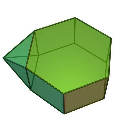 Augmented hexagonal prism