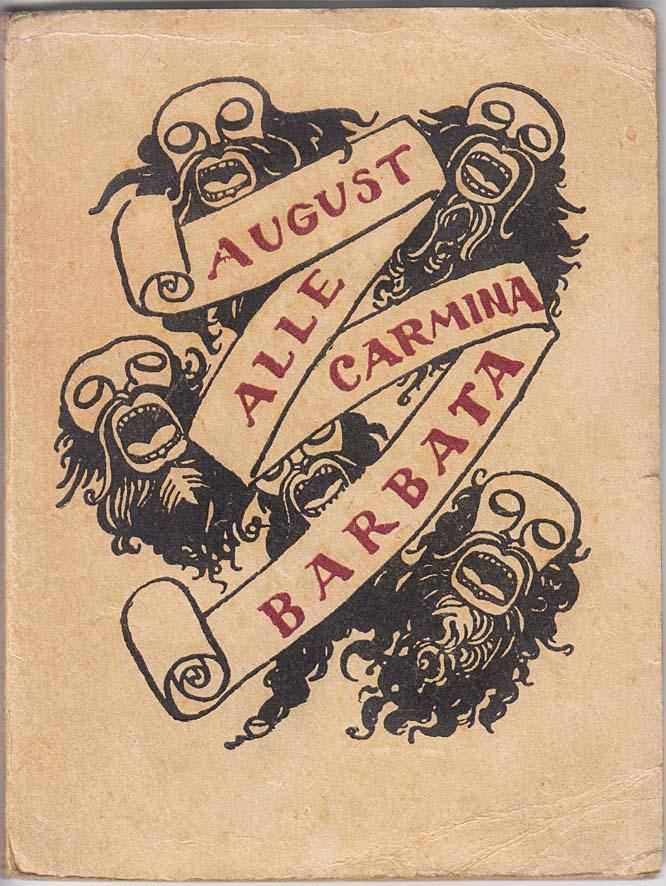 August Alle Carmina Barbata Poetry Collection by August Alle Ado Vabbe cover