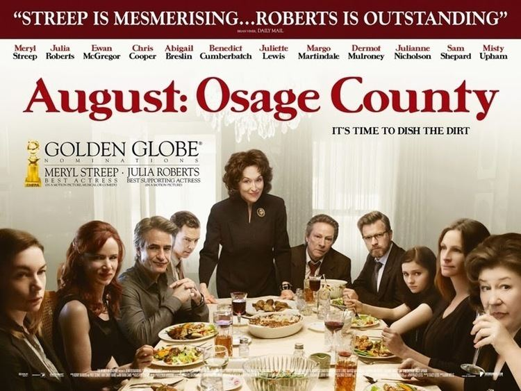 August: Osage County (film) Why I almost liked AUGUST OSAGE COUNTY Calm sea raging undertow