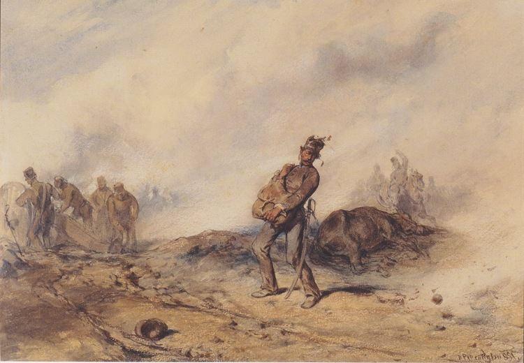 August von Pettenkofen FileAugust von Pettenkofen Nach der Schlacht 1851jpeg