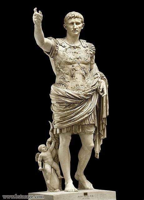 Augustus of Prima Porta ROMAN Augustus of Primaporta c 53 BC this piece of idealized