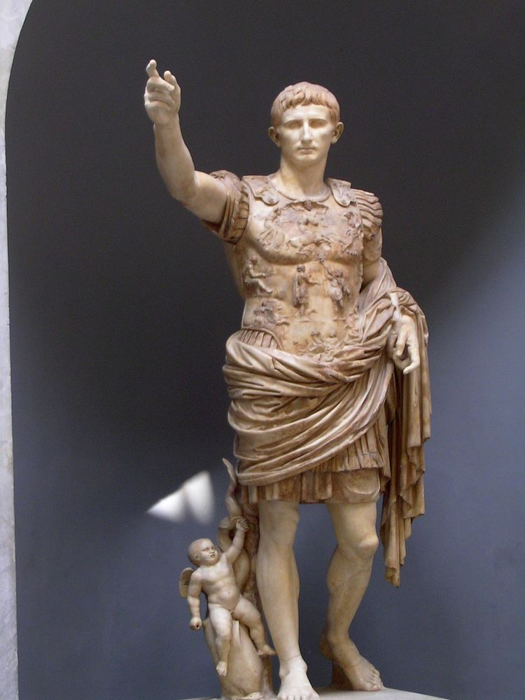 Augustus of Prima Porta Augustus of Prima Porta The statue of Augustus excavated f Flickr