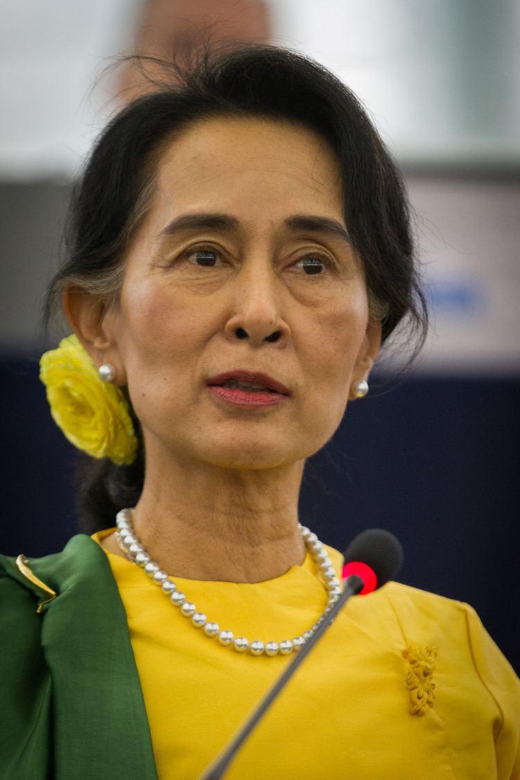 Aung San Suu Kyi httpsuploadwikimediaorgwikipediacommons66