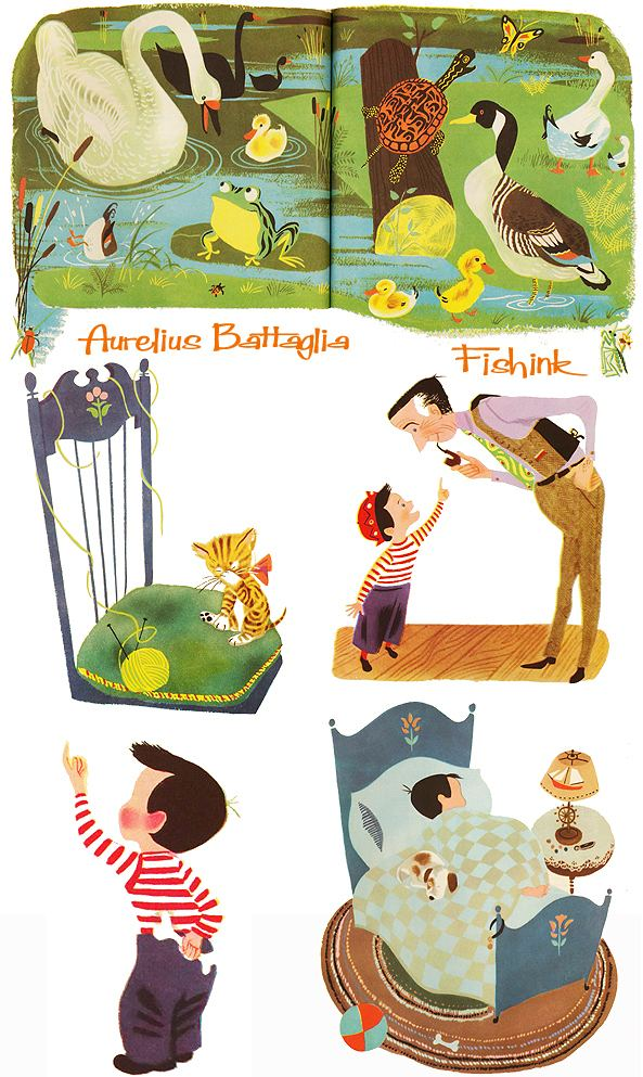Aurelius Battaglia Aurelius Battaglia Disney Illustrator creating midcentury