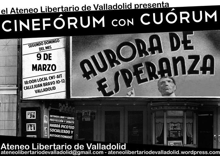Aurora de esperanza Cinefrum con curum Aurora de Esperanza 9 de marzo a las 18h