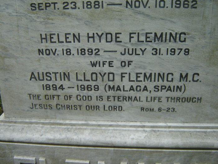 Austin Lloyd Fleming Austin Lloyd Fleming 1894 1969 Find A Grave Memorial
