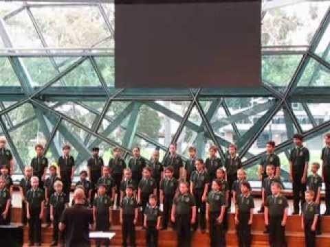 Australian Children's Choir Morning has broken The Australian Childrens Choir Junior Ensemble