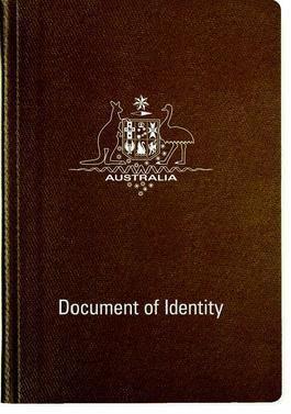 Australian Document of Identity
