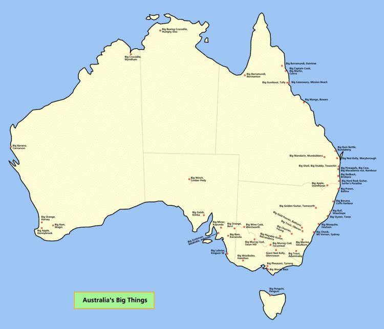 Australia's big things All of Australia39s Big Things australia