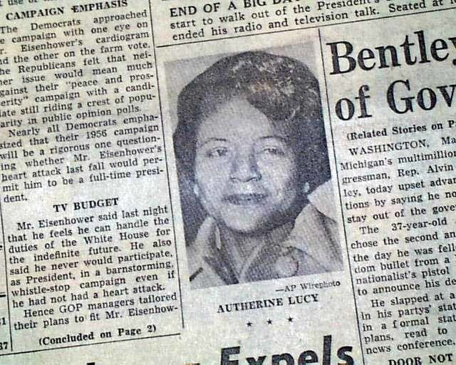 Autherine Lucy Autherine Lucy University of Alabama39s first negro