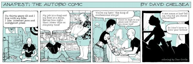 Autobiographical comics Anapest The Autobio Comic News