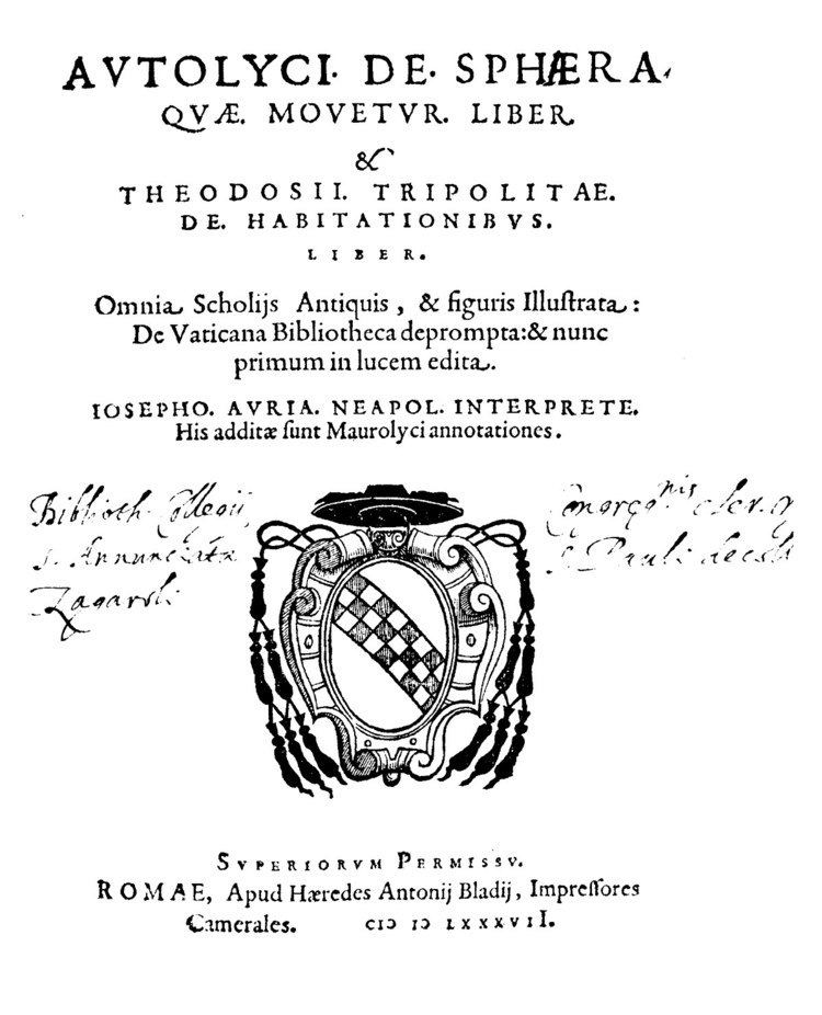 Autolycus of Pitane Autolycus of Pitane Wikipedia