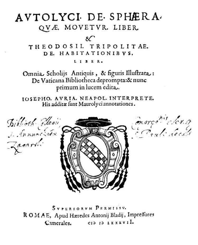 Autolycus of Pitane