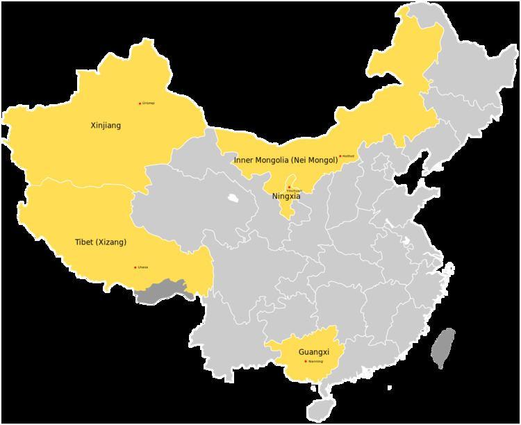 Autonomous regions of China