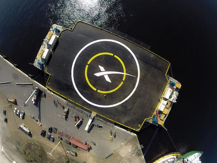 Autonomous spaceport drone ship X MARKS THE SPOT FALCON 9 ATTEMPTS OCEAN PLATFORM LANDING SpaceX