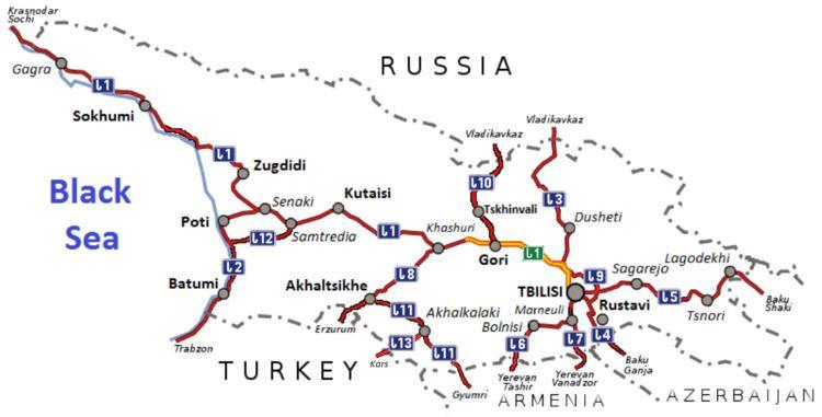 Autoroutes of Georgia