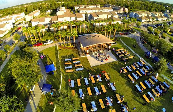 Avalon Park, Florida Event Aerial Photography of Octoberfest in Avalon Park Florida Aerials