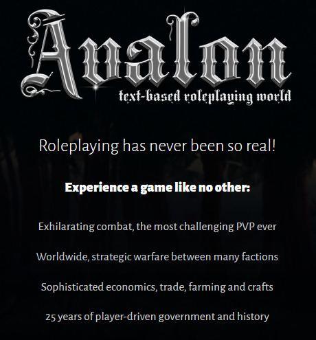 Avalon: The Legend Lives Avalon The Legend Lives Play online at textadventurescouk