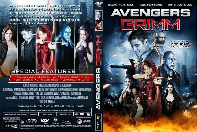 Avengers Grimm Avengers Grimm DVD Cover Label 2015 R1 Custom