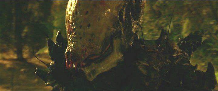 AVH: Alien vs. Hunter movie scenes The Half spider Half humanoid Alien looked ok from what we see of it the Hunter on the other hand was just a poor man s Boba Fett