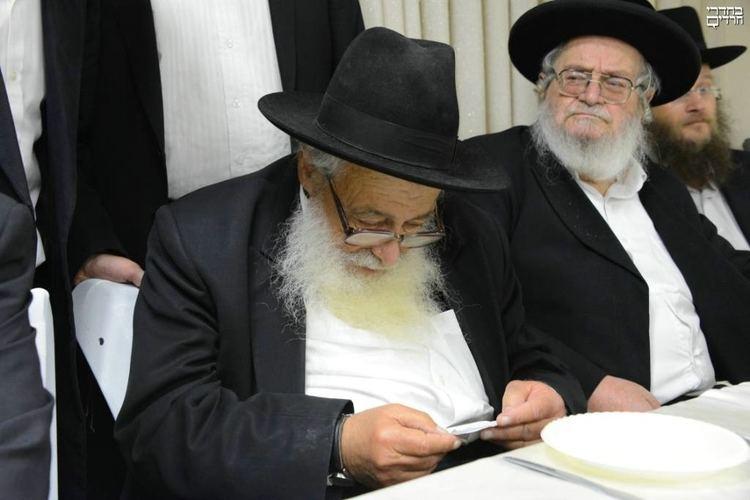 Avigdor Nebenzahl Photos At the Engagement of a Granddaughter of Rav Chaim Kanievsky