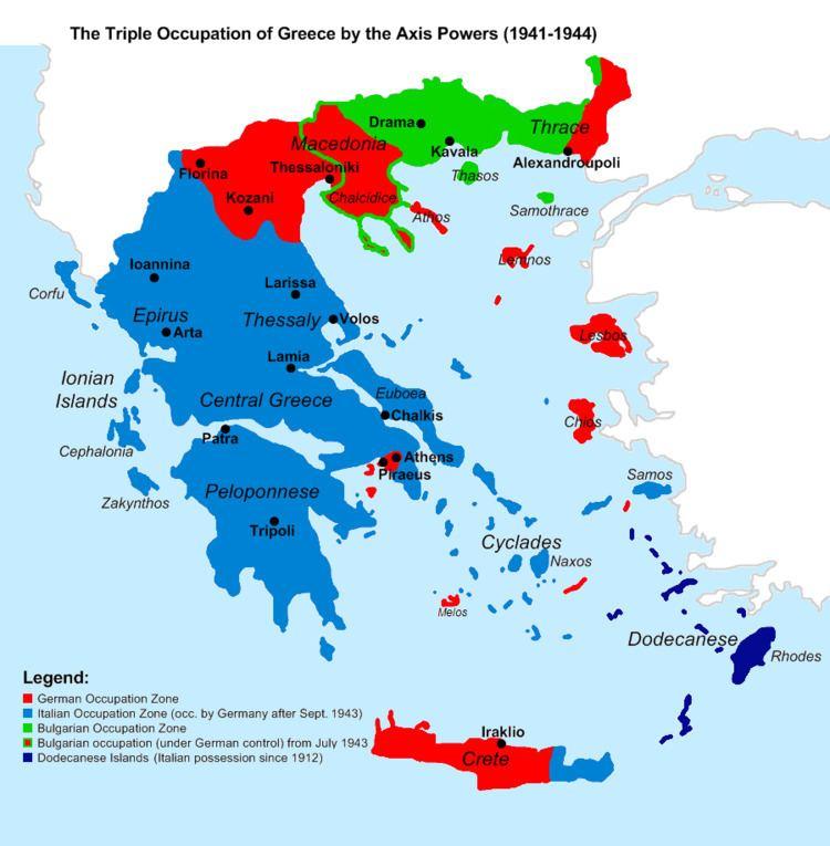 Axis occupation of Greece Axis occupation of Greece Wikipedia