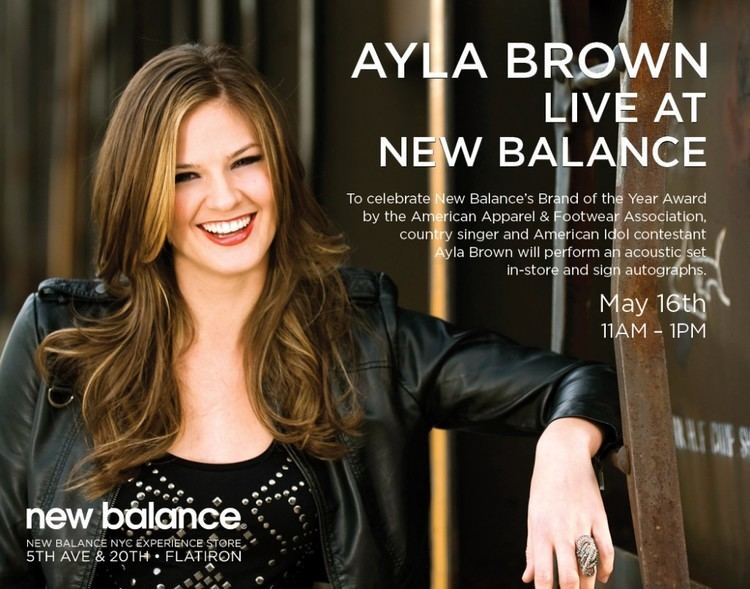 Ayla Brown Ayla Brown to Perform a Free show at New Balance Store in