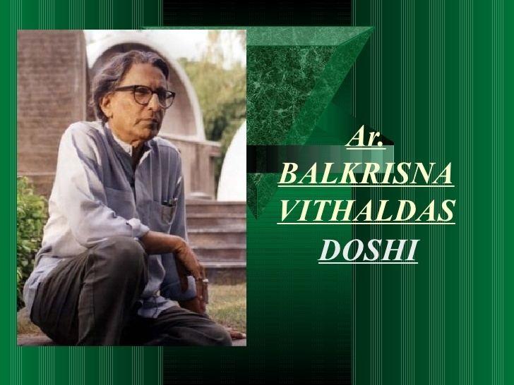 B. V. Doshi Bv doshi