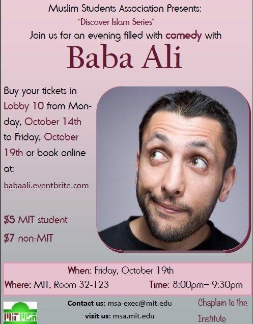 Baba Ali MIT Discover Islam Series Comedy Show with Baba Ali Islamic