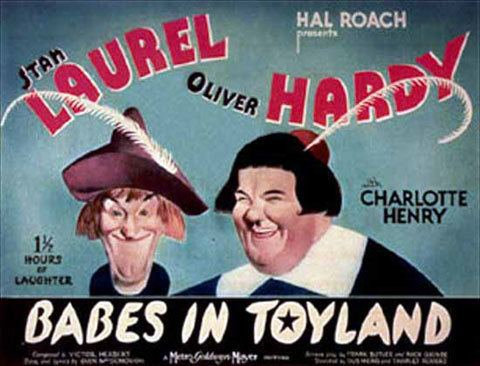 Babes in Toyland (1934 film) movie scenes Babes in Toyland 1934 This Laurel and Hardy classic also known as March of the Wooden Soldiers was a favorite of mine as a kid