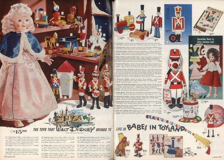 Babes in Toyland (1961 film) movie scenes Walt Disney s Wonderful World Of Color had just premiered in the Fall of 1961 on NBC Television saturation for Babes In Toyland began on November 13 for a