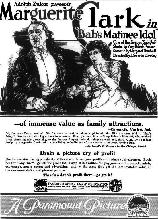 Bab's Matinee Idol FileBabs Matinee Idol 1917 1jpg Wikimedia Commons